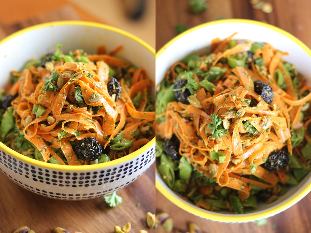 shaved carrot salad 2