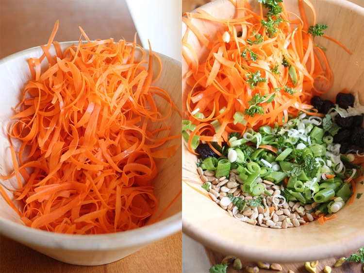 shaved carrot salad